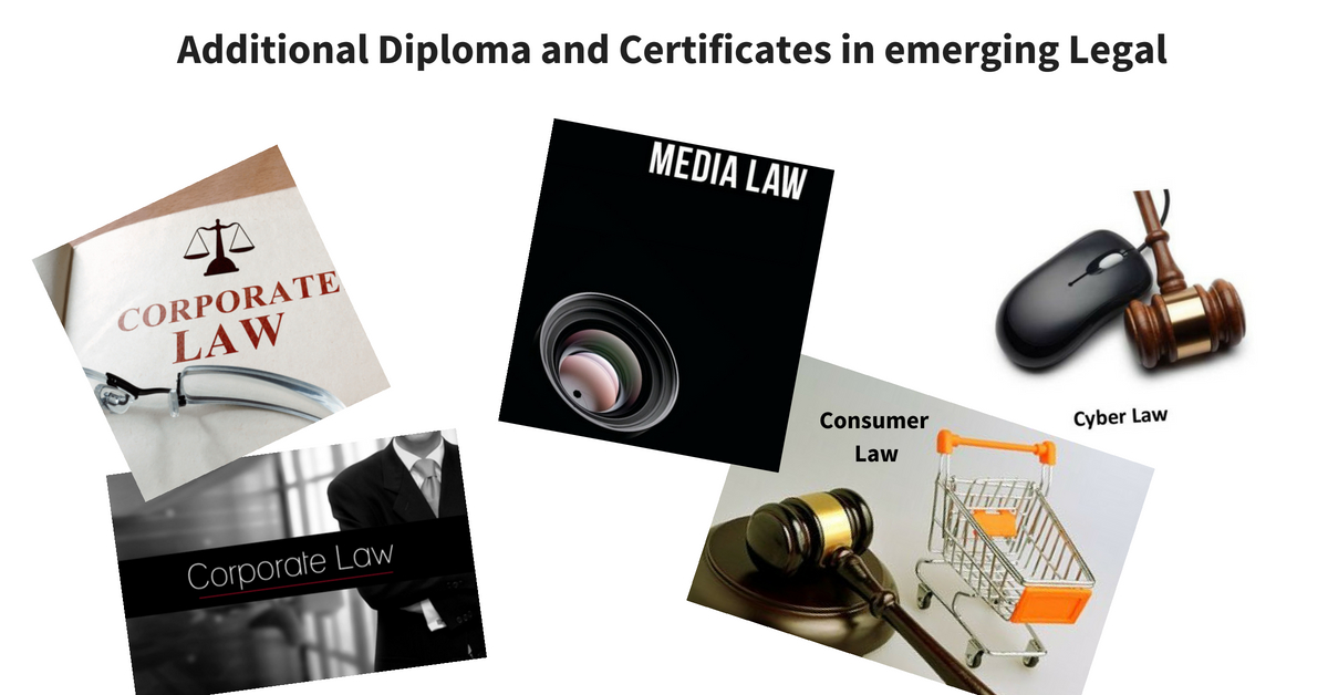 Value Added Additional Diploma and Certificates in emerging Legal Fields