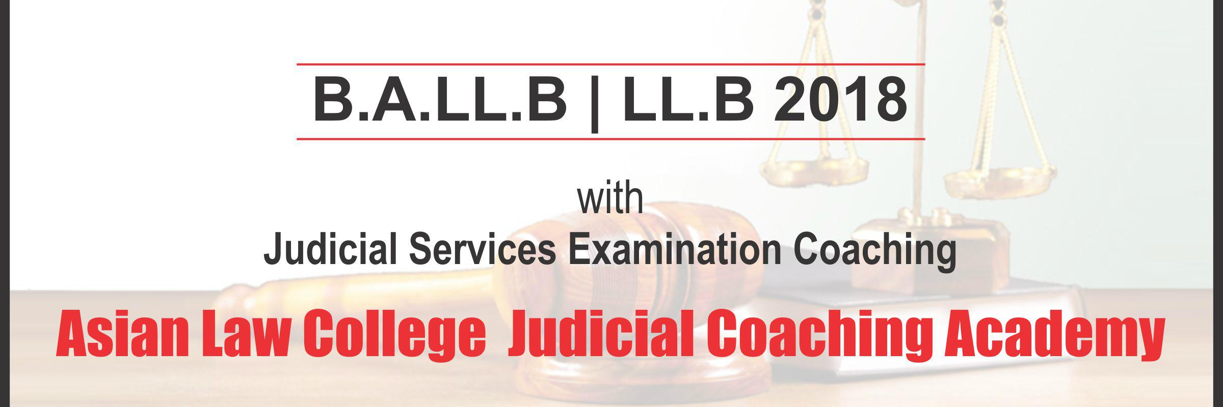 Asian Law College Judicial Coaching Academy for Judicial Service Examination