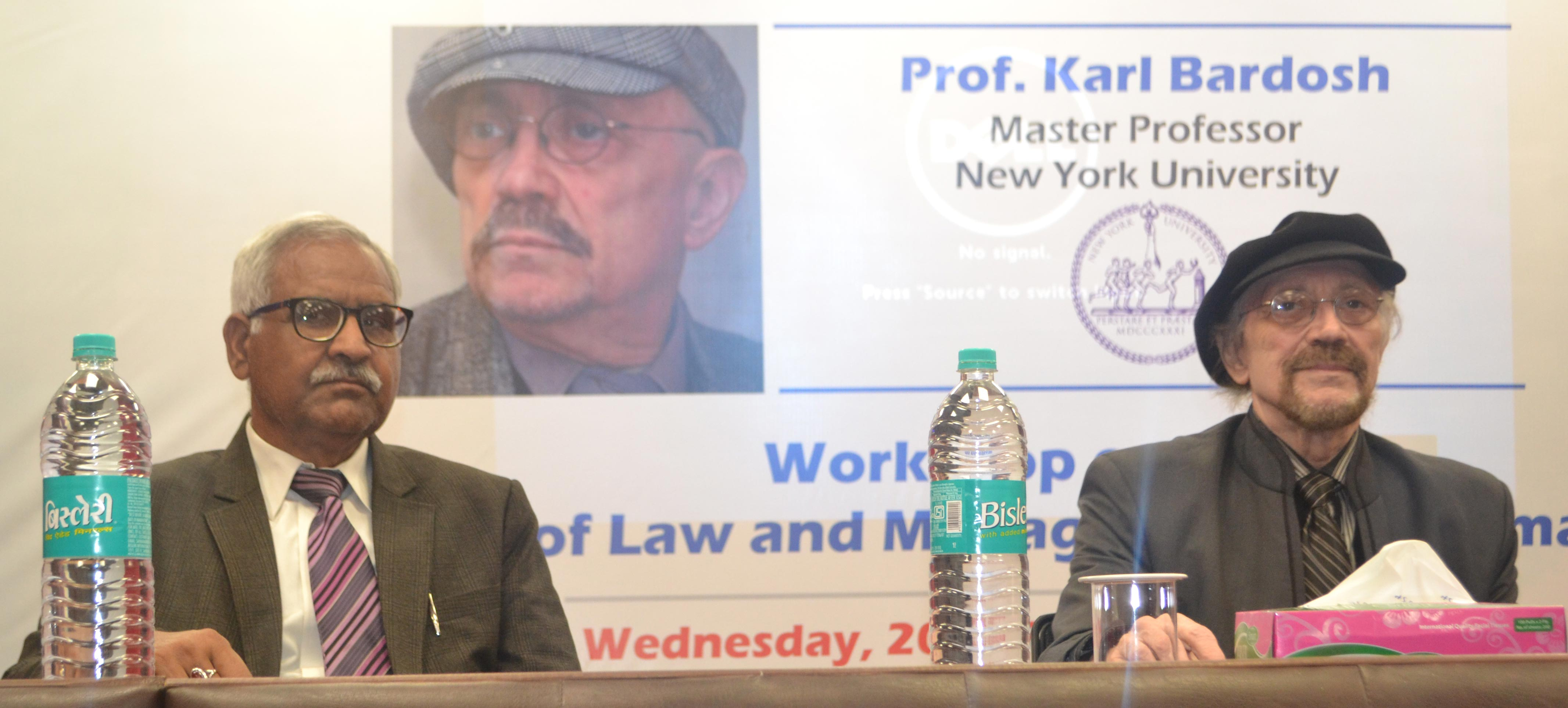 Asian Law College holds a workshop session for LLB and BALLB students with internationally acclaimed media personality, Prof Karl Bardosh