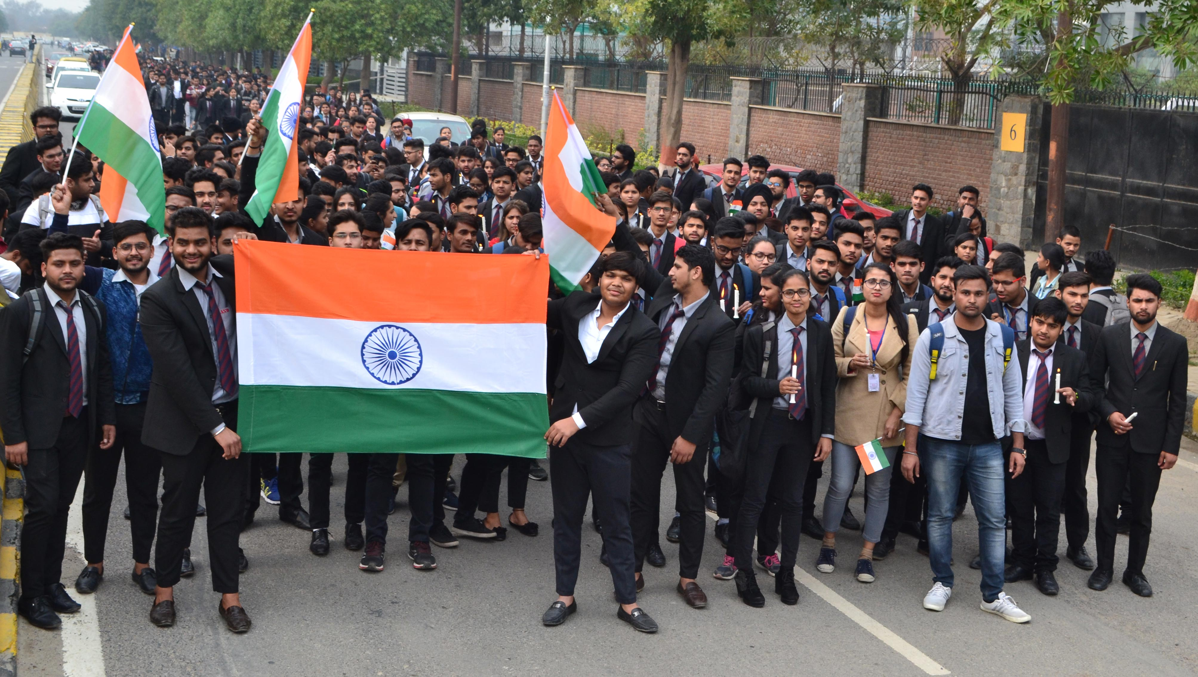 Asian Law College (ALC) pays emotional tribute to CRPF martyrs of Pulwama