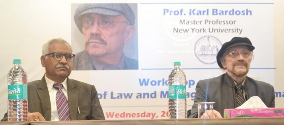 Asian Law College (ALC) hosts internationally acclaimed media personality, Prof Karl Bardosh for a highly rewarding workshop session