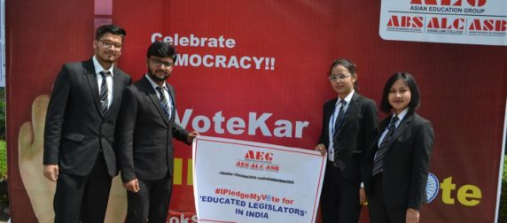 Students of Asian Law College participate in I Pledge My Vote for a better India campaign