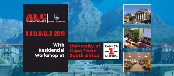 Asian Law College collaborates with top ranked university of the world – University of Cape Town, South Africa